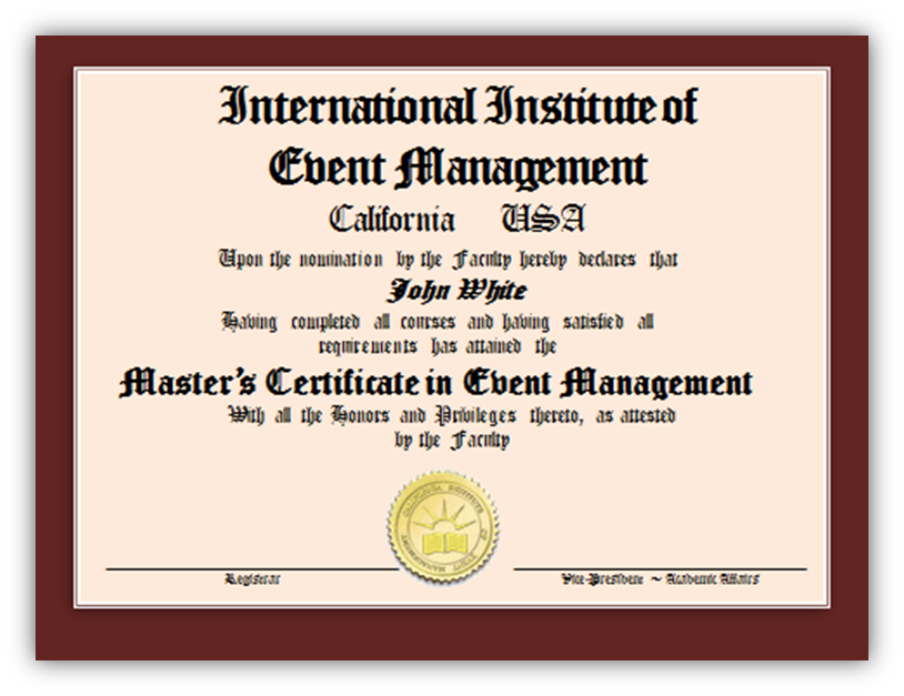Leader In Event Management Courses