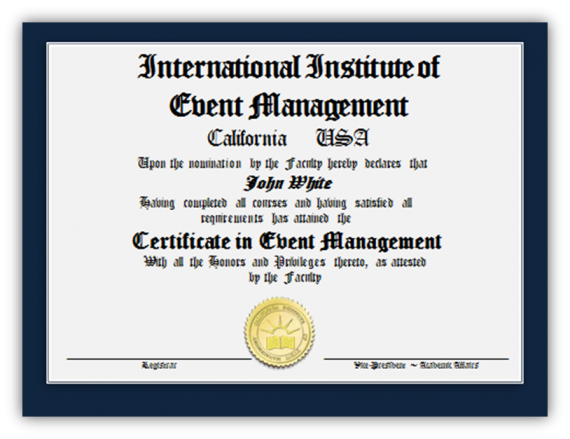 Certificate in Event Management Image